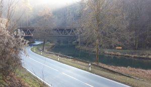 Bahnbrücke über die Pegnitz