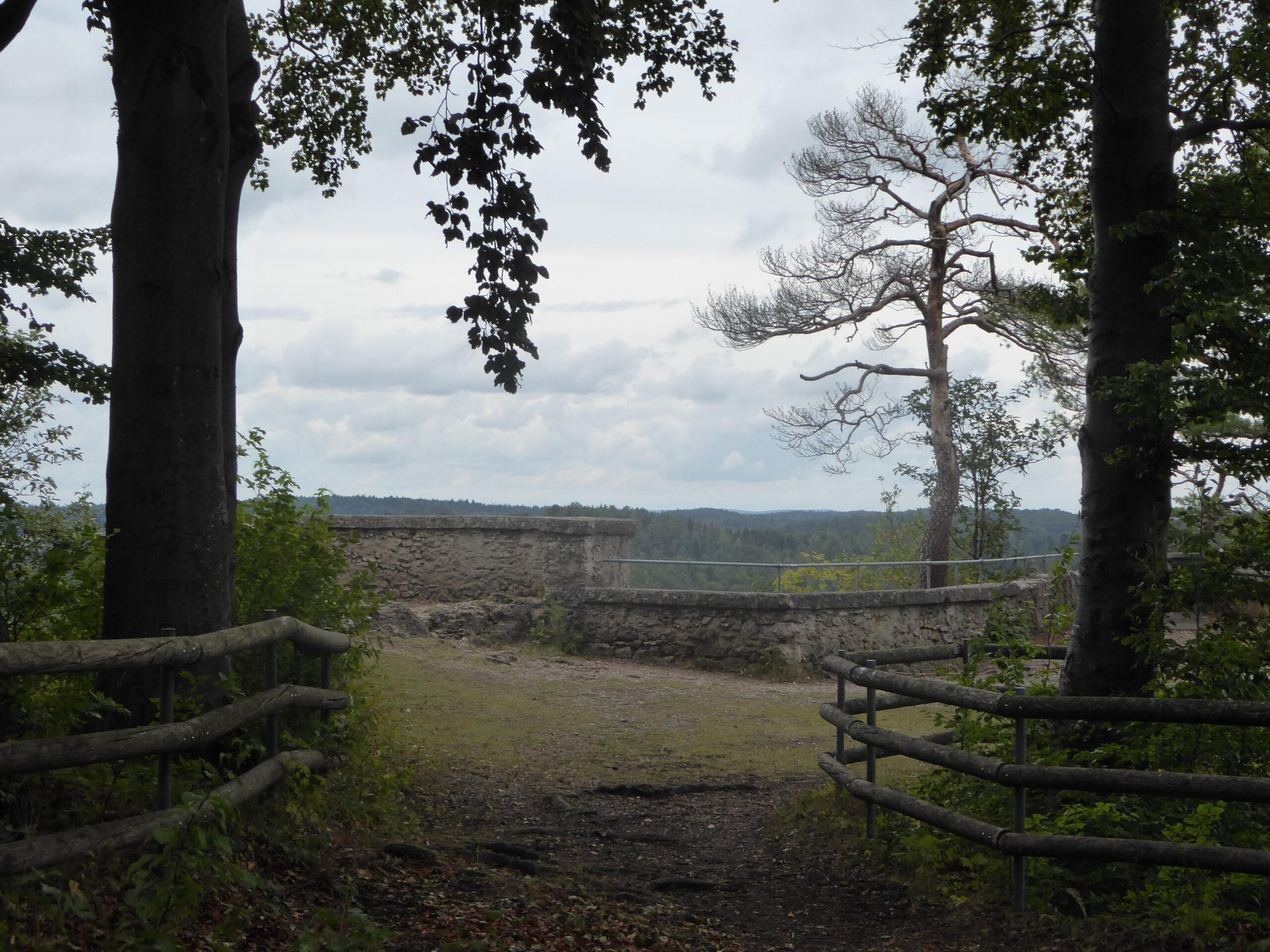 Blick von der Burgruine Bärnfels